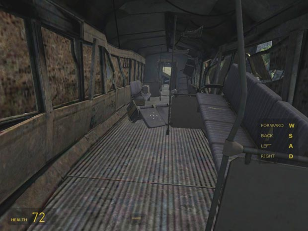 "The very first thing you'll see, after a recap of Episode One and the words ""Half-Life 2: Episode Two"" is, in fact, the inside of a train."