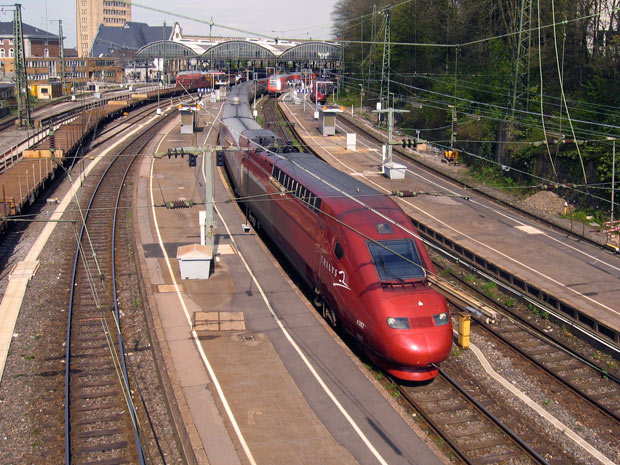 The real Thalys has some distinct differences, but mainly, it's the same train